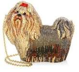 Judith Leiber Couture Charlie Crytal Dog Clutch