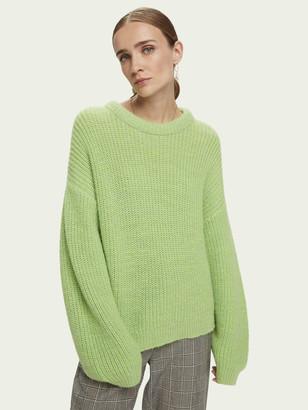 Scotch & Soda Rib knit wool-Alpaca blend pullover   Women