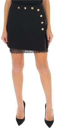 Givenchy 4G Button Lace Trim Skirt