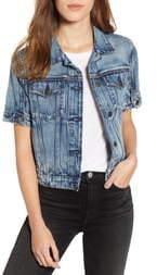 Hudson Jeans Ruby Contour Short Sleeve Denim Jacket