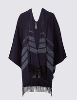 M&S Collection Tonal Striped Wrap