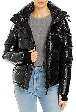 Aqua Lacquer Ella Puffer Jacket - 100% Exclusive