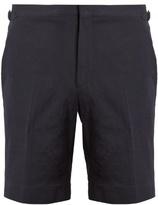 Burberry Straight-leg Cotton-blend Seersucker Shorts