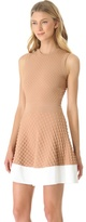 No.21 No. 21 Scalloped Knit Dress with Contrast Hem