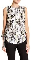 Ellen Tracy Ruched Side Sleeveless Blouse