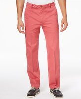 Izod Men's Flat-Front Straight-Fit Performance Cotton Pants