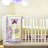 Pam Grace Creations Lavender Butterfly Crib Bedding Collection