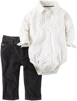 Carter's 2 Piece Bodysuit Set (Baby) - Ivory - 12 Months