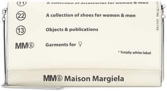 MM6 MAISON MARGIELA Logo PVC clutch