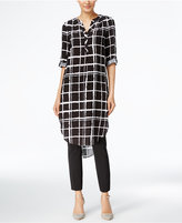 Cable & Gauge Plaid Tunic Shirt