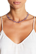 Judith Jack Sterling Silver & Purple Crystal Detail Necklace