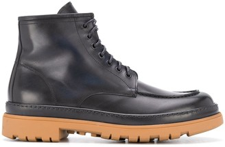 Doucal's Leather Lace-Up Boots