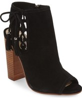 Kristin Cavallari 'Legend' Peep Toe Zip Bootie (Women)