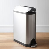 Simplehuman simplehumanTM Stainless-Steel Fingerprint-Proof Butterfly Trash Can
