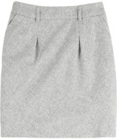 Alpaca-blend mini skirt