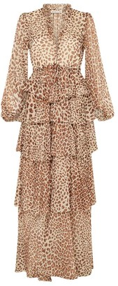 Shona Joy Ghetty Leopard Print Maxi Dress