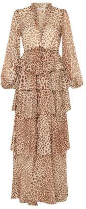 Shona Joy Ghetty Leopard Print Maxi Dress