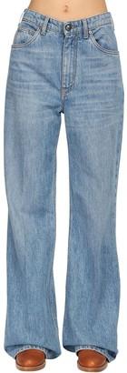 Etro Oversize Cotton Denim Flared Jeans