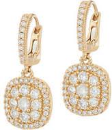 Judith Ripka 14K Gold 1.05 cttw Pave' DiamondEarrings