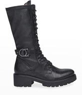 Thumbnail for your product : Nero Giardini Leather Tall Combat Moto Boots