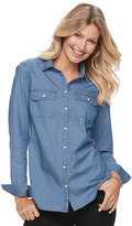 Croft & Barrow Women's Flannel Button-Front Shirt