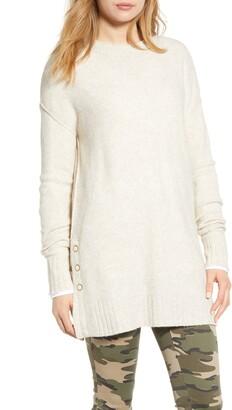 Caslon Side Snap Tunic Sweater