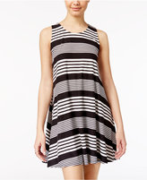 Planet Gold Juniors' Crisscross-Back Striped Tank Dress