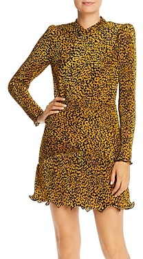Saylor Tovah Pleated Leopard Print Dress