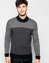 French Connection Contrast Geo Jumper