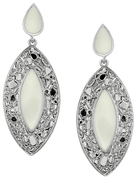 Belle Noel by Kim Kardashian Nugget and Ivory Epoxy Double Drop Marquis Earrings