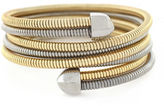 BCBGeneration Coil Two Tone Stretch Wrap Bracelet
