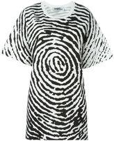 Jeremy Scott oversized fingerprint T-shirt - women - Cotton - M
