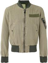 R 13 frayed cuffs bomber jacket - men - Cotton/Hemp - M