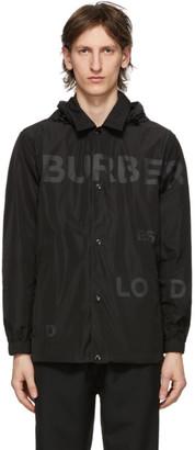 Burberry Black Logo Print Ealing Jacket