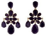 Oscar de la Renta Faceted Chandelier Clip-On Earrings