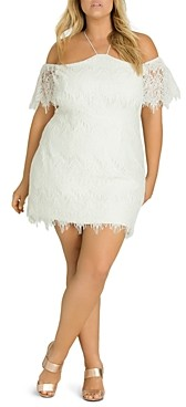 City Chic Plus Lace Devotion Dress