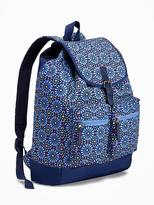 Old Navy Floral-Print Canvas Backpack for Girls