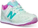 New Balance Girls' 574 Summer Waves Casual Sneakers from Finish Line