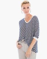 Chico's Slubby Striped Mary Pullover Sweater