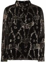 Thumbnail for your product : BA&SH Droo metallic fil coupe blouse