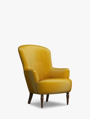 John Lewis & Partners Fireside Velvet Armchair, Dark Leg