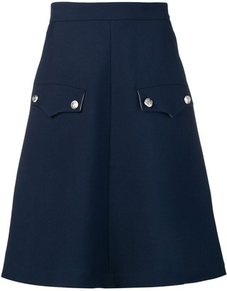 Calvin Klein flap pocket A-line skirt