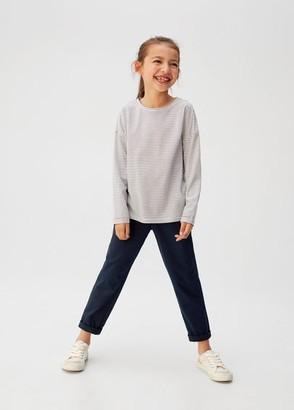 MANGO Straight trousers dark navy - 5 - Kids