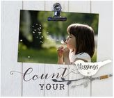 """New View Blessings"""" Photo Clip Frame"""