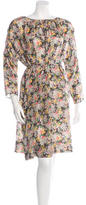 Band Of Outsiders Silk Floral Print Swing Dress