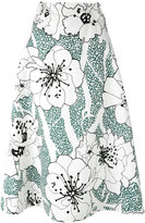 Marni floral print skirt - women - Cotton/Linen/Flax - 40