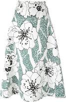 Marni floral print skirt - women - Cotton/Linen/Flax - 42