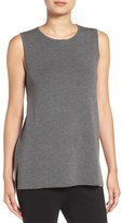 Eileen Fisher Petite Women's Round Neck Wool Crepe Long Tank