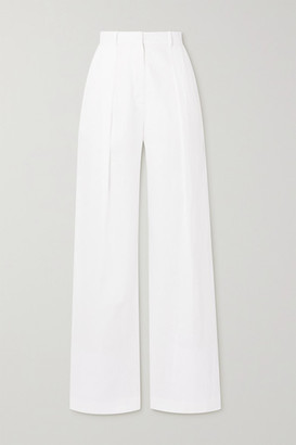 Michael Lo Sordo Linen Wide-leg Pants - White