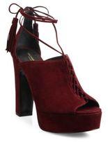 Michael Kors Sylvan Suede Lace-Up Platform Sandals